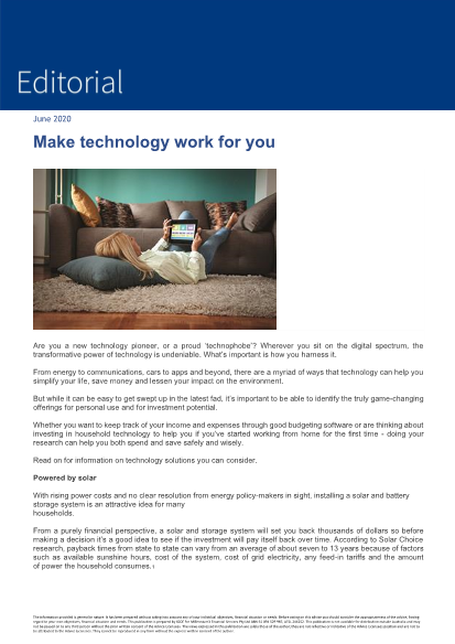 Editorial June 2020 - Make technology work for you